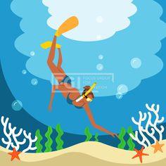 SILL227, 프리진, 일러스트, 여행, 사람, 여름, 바캉스, 라이프스타일, 라이프, 생활, 벡터, 에프지아이, 캐릭터, 심플, 바다, 모래, 수영복, 비키니, 여자, 전신, 1인, 물방울, 바닷속, 미역, 산호, 불가사리, 스노쿨링, 스쿠버, 오리발, 고글, 수경, 물안경, 일러스트, illust, illustration #유토이미지 #프리진 #utoimage #freegine 20012986