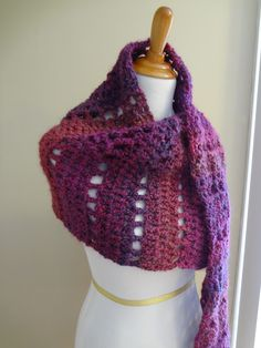 Fiber Flux...Adventures in Stitching: Free Crochet Pattern...Mulberry Shawl!