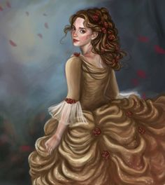 Old digital painting I did of Emma Watson as Belle from Beauty and the Beast. Emma Watson as Belle Classic Disney Movies, Film Disney, Emma Watson, Disney Beauty And The Beast, Disney Drawings, Disney Artwork, Disney Love, Disney Belle, Disney Stuff