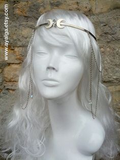 moon tiara goddess tiara by Ayalga on Etsy