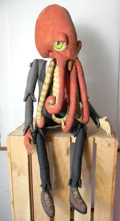Adorable octopus doll by Cart Before The Horse.