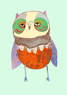 Pretty Baby Owl limited edition owl art print by by AshleyPercival, $40.00