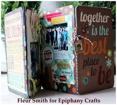 Mini album with the #epiphanycrafts Shape Studio Tool Square available at #MichaelsStores www.epiphanycrafts.com