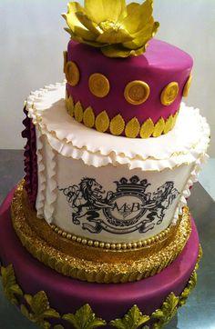 Fleur de Lis Cake by Connie Cupcake