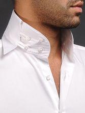 Chemise homme blanche col Danton : étrange, peu commun mais original non ?