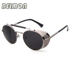 Belmon steampunk óculos de sol das mulheres dos homens 2017 marca designer  óculos de sol para 557f5182eb