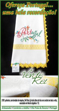 "Kitchen cloth ""Portugal"" (100% polyester), with crochet beak (100% cotton thread)."