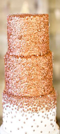Wedding ● Cake ● Rose Gold...we ♥ this! moncheribridals.com