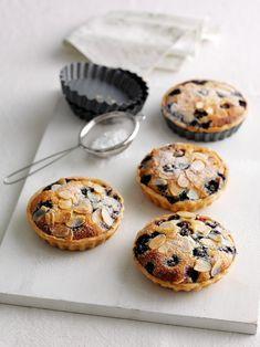 Blueberry Frangipane Tarts