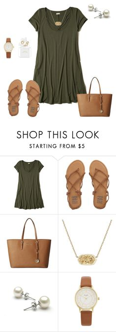 """""""church today!!"""" by ctrygrl1999 ❤ liked on Polyvore featuring Hollister Co., Billabong, MICHAEL Michael Kors, Kendra Scott, Kate Spade and Marc Jacobs"""
