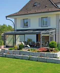 Outdoor Curtains, Outdoor Decor, Pergola, Sunroom, Terrace, Outdoor Structures, Porches, House, Home Decor