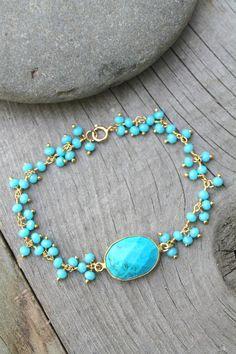 b90a087f87cf Turquoise bracelet Boho Chic bracelet Bohemian genuine