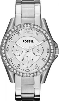 low priced 53da2 209ec Fossil ES3202 En Stock ! Montre Femme Fossil Riley ES3202 Argent à .