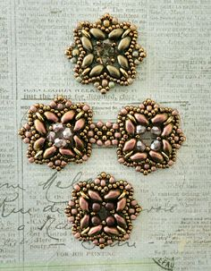 Linda's Crafty Inspirations: Playing with my beads...various pattern samples and experiments