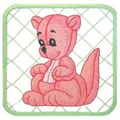 baby01 - Baby Kangaroo Machine Embroidery Design