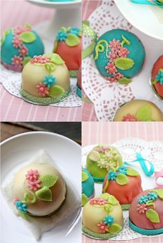 Swedish Prinsesstårta, princess cupcakes   Full recipes for all the parts are listed.