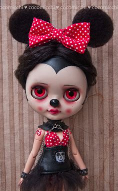 OOAK custom Neo Blythe doll and Petite Blythe: Mimi von cocomicchi
