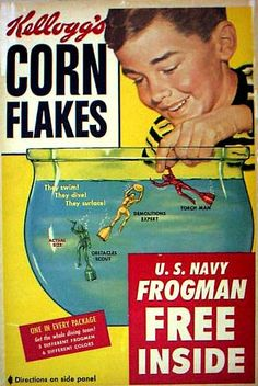 Ah, yes. The wonderful navy frogmen. I talk about them on the blog (click twice on the image). They were one of the reasons I started looking at Battle Creek with a jaundiced eye.