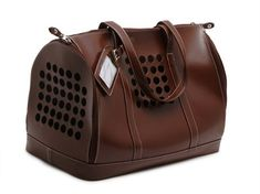For my manly kitties who dare not travel in style! [Zoomies] 'Brown' City Pet Carrier - $100