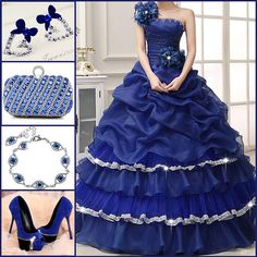 One shoulder beading ball gown quinceanera dress