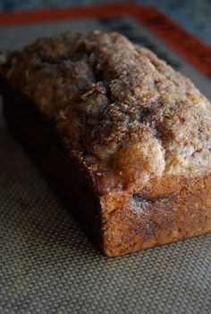 *Riches to Rags* by Dori: Cinnamon Swirl Banana Bread.I used my own banana bread recipe and just added the cinnamon Swirl part and it was a hit! Just Desserts, Delicious Desserts, Dessert Recipes, Yummy Food, Dinner Recipes, Dessert Healthy, Dinner Healthy, Fall Recipes, Think Food