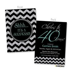 Diva Womans African American Birthday Party Card 40th
