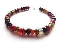Dragon Vein Agate bracelet/Agate by PepperandPomme on Etsy, $28.00