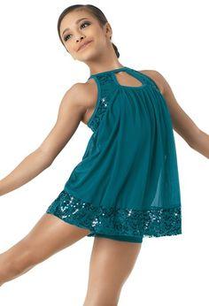 NEW Women Contemporary Dance Costume Weissman 10267 Small Adult Dark Teal Dance Recital Costumes, Tap Costumes, Girls Dance Costumes, Dance Outfits, Contemporary Dance Costumes, Dance Leotards, Ballet, Mesh Dress, Babydoll Dress