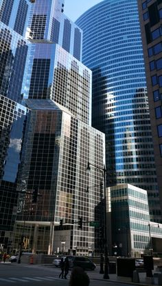 Glass buildings in chicago!