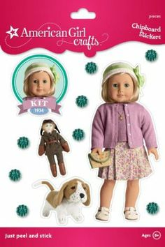 American Girl Crafts Sturdy Stickers, Kit Kittredge Sweater Set by EK Success. $4.87. For Ages 8+. Personalize notebooks, folders, bags, and more.. Just peel and stick.. Sturdy chipboard adhesive stickers featuring an American Girl historical character.. 12 pieces included. From the Manufacturer                Kit Kittredge and all of her favorite things are ready for crafting with these chipboard stickers from American Girl Crafts. Just peel and stick to create fun ...