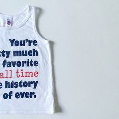 Limited Edition July 4th You're pretty much my favorite of all time in the history of ever tank. // Sneak Peak! Available in sizes 2-8 on May 11th //