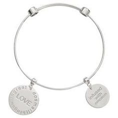 Buy Love Silver Bangle from Nikki Lissoni at Fabulous Collections the leading on-line retailer of contemporary designer jewellery Silver Bangles, Girls Best Friend, Rocks, Jewelry Design, Sparkle, Jewels, Love, Bracelets, Stuff To Buy