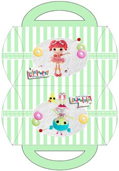 Lalaloopsy in Green: Free Printable Pillow Box.