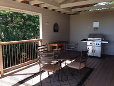 Love a covered deck to BBQ year-round