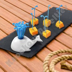 Popular Gifts and Moby Pick Party Picks at Perpetual Kid. When there's a party brewin' on the horizon, make sure you have your proper harpoons to skewer your sn Wine And Cheese Party, Cute Whales, 3d Home, Cool Inventions, Skewers, Kitchen Gadgets, Kitchen Stuff, Diy Kitchen, Kitchenware
