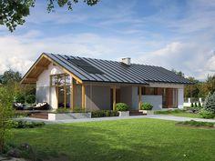 """Projekt domu Heban (93,57 m2) to zdobywca tytułu w plebiscycie """"Projekt Roku 2013"""" w kategorii """"Domy parterowe"""". Szczegóły projektu dostępne są pod adresem: http://www.domywstylu.pl/projekt-domu-heban.php. #heban #projektroku #projektygotowe #domyparterowe #domywstylu #mtmstyl #home #design #style #architektura"""