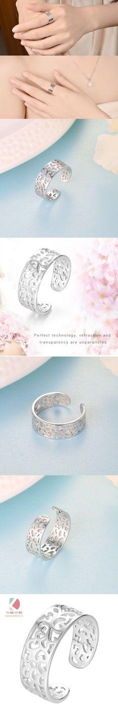 Lingdong fashion brand 925 silver hollow fashion exquisite ring midi rings free shipping