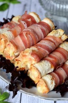 Five Best Bacon Wrapped Appetizers - Useful Articles Bacon Wrapped Appetizers, Best Appetizers, Appetizer Recipes, Best Bacon, Pub Food, Pin On, Street Food, Finger Foods, Food Videos