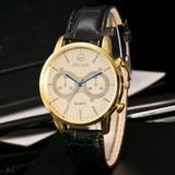 Fashion Men Leather Band Watches Sport Analog Quartz Wrist Watch – TopProductKing