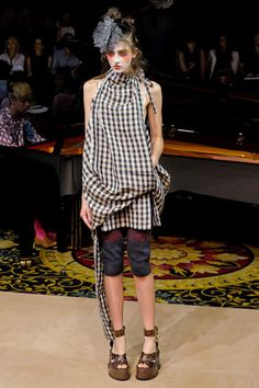 Vivienne Westwood Spring 2012.  {i love how absolutely whimsical and somewhat dark she is}