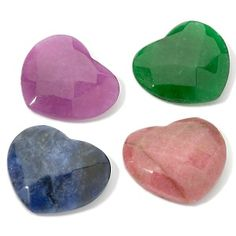Gemstone Heart Interchangeable 4-piece Set at HSN.com.