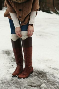 Perhaps one of our all-time favorite looks: tall socks over riding boots