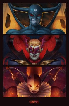 The Demon, Vampire, and the Clown by Tvonn9.deviantart.com on @deviantART