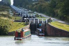 Foxton Locks - these scare me. I need a strong man on my canal boat. Volunteers?