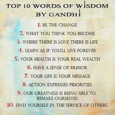 Inspiration quote - Words to live by -GANDHI