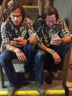 Jared and his stunt double (via Jared's twitter)