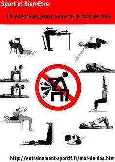 10 exercices pour vaincre le mal de dos http://entrainement-sportif.fr/mal-de-dos.htm