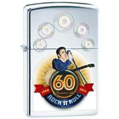 Elvis Presley 60th Anniversary Zippo Lighter - HP Chrome