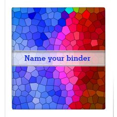 Bright Stained Glass Mosaic Pattern Binder