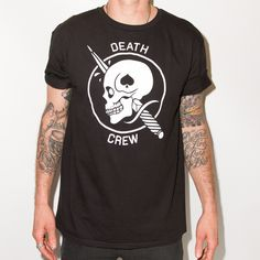 Death crew logo for Ruckus Apparel #ruckus #tshirt #graphictees #skull #dagger #ruckusapparel #deathcrew